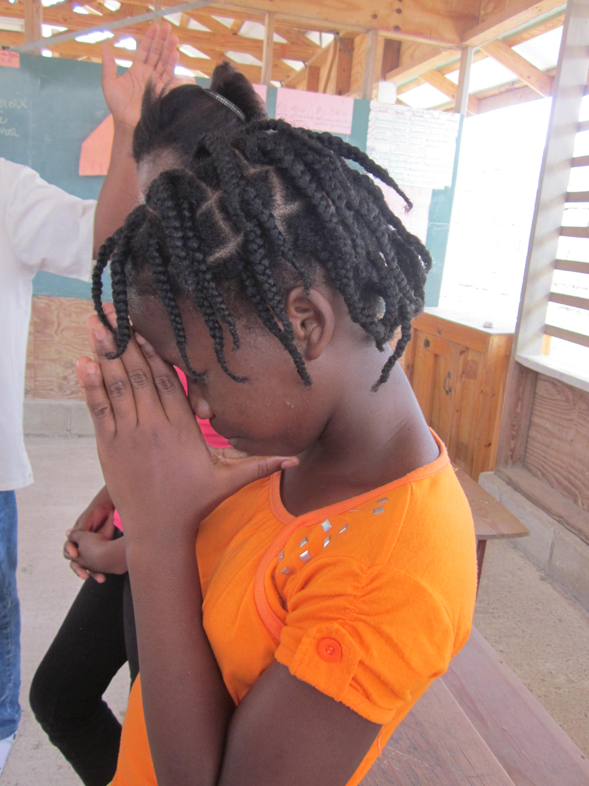 Haitian Girl Praying