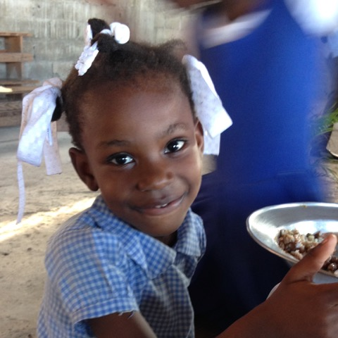 Haitian Girl with Food